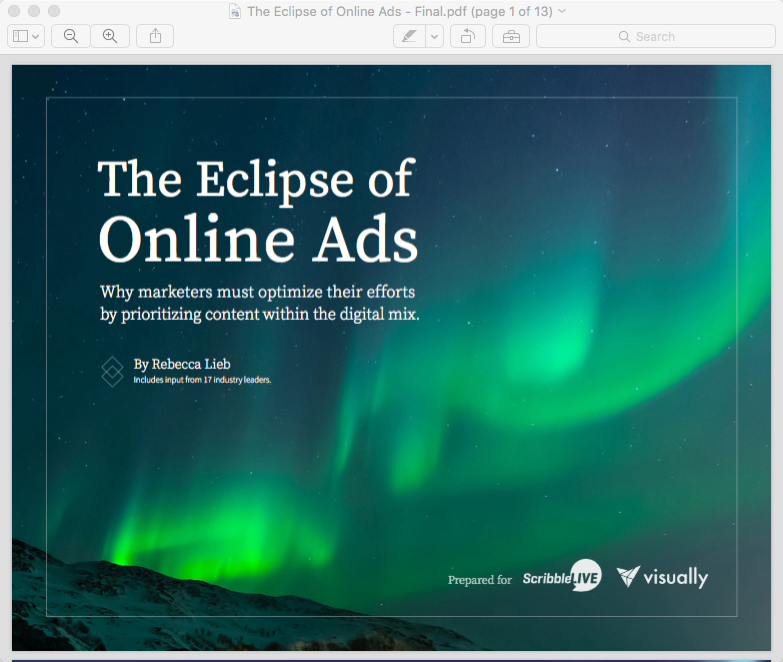 The Eclipse of Online Advertising