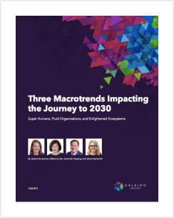 Three Macrotrends Impacting the Journey to 2030