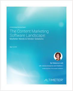 The Content Marketing Software Landscape