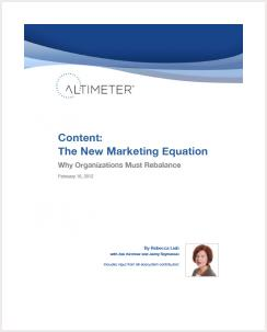 Content: The New Marketing Equation