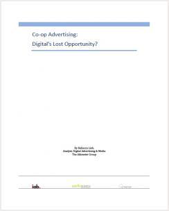 Co-op Advertising: Digital's Lost Opportunity?