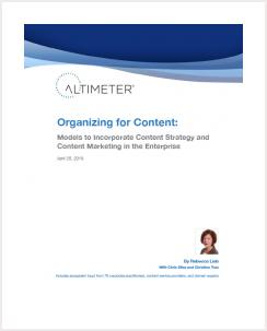 Organizing for Content